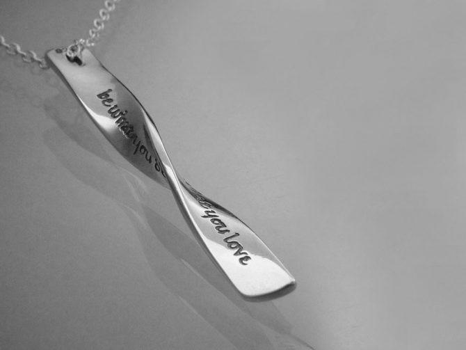 Rumi's - 'Let the Beauty of What You Love Be What You Do' Sterling Silver Necklace
