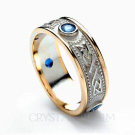 sapphire celtic wedding ring rfld036wyhs