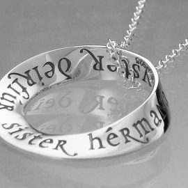 sister in eight languages sterling silver necklace in22n