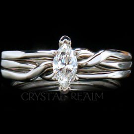 3 piece puzzle ring with marquise diamond