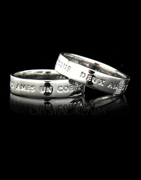 Platinum Posy Rings