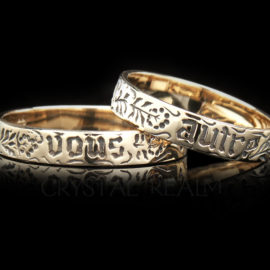 you and no other poesy ring va006r 14k yg