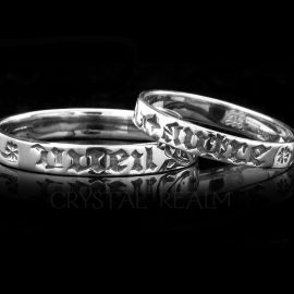 you and only you french poesy ring sterling silver va019r