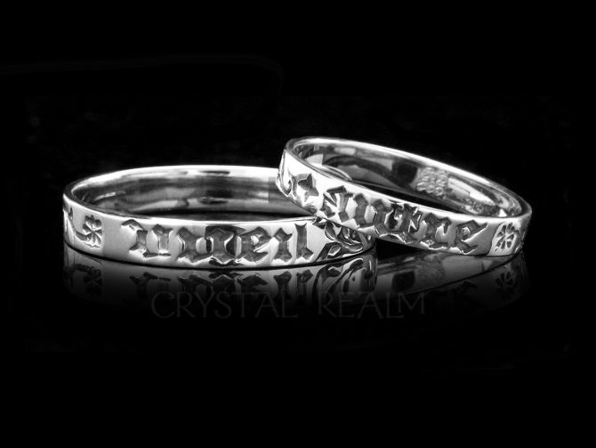 No One but You, Traditional French Posy Ring, Sterling Silver